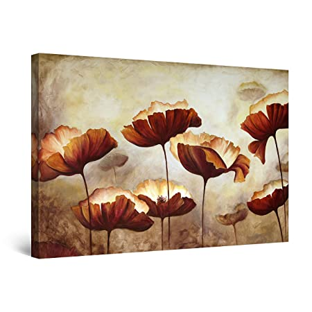 Startonight Quadro su Tela Fiori Decor Marrone, Grandi ...