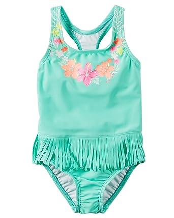 752b7f4ab0 Amazon.com: Carter's Toddler Girls' Floral Fringe Swimsuit, 2T: Clothing