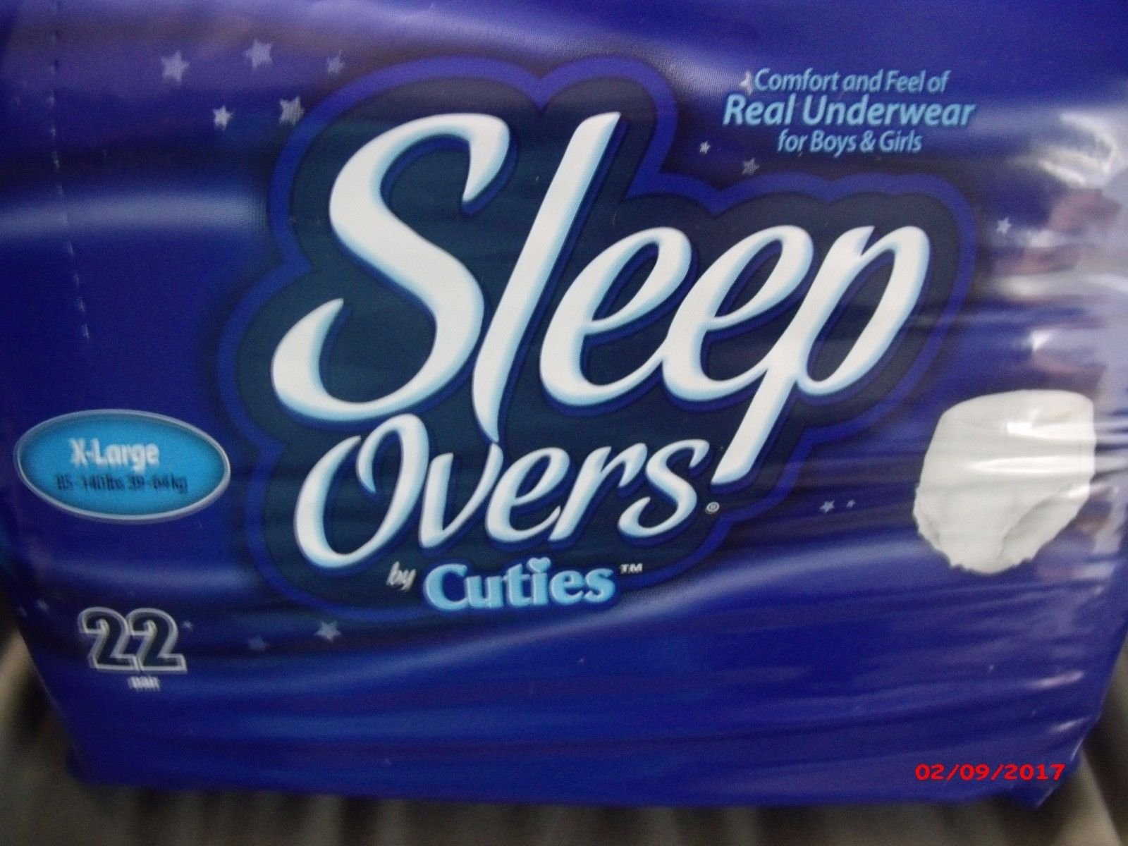 Sleep Overs X- Large XL 85lb-140lb by Cuties