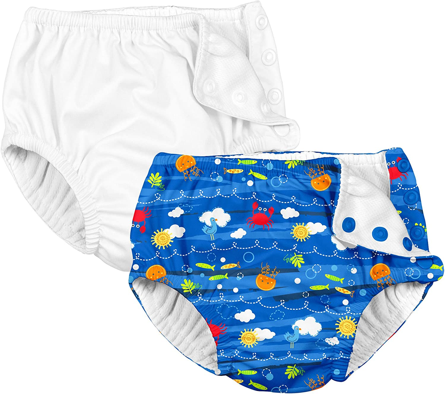 Boys Reusable Absorbent Swim Diapers 2 Pack i play