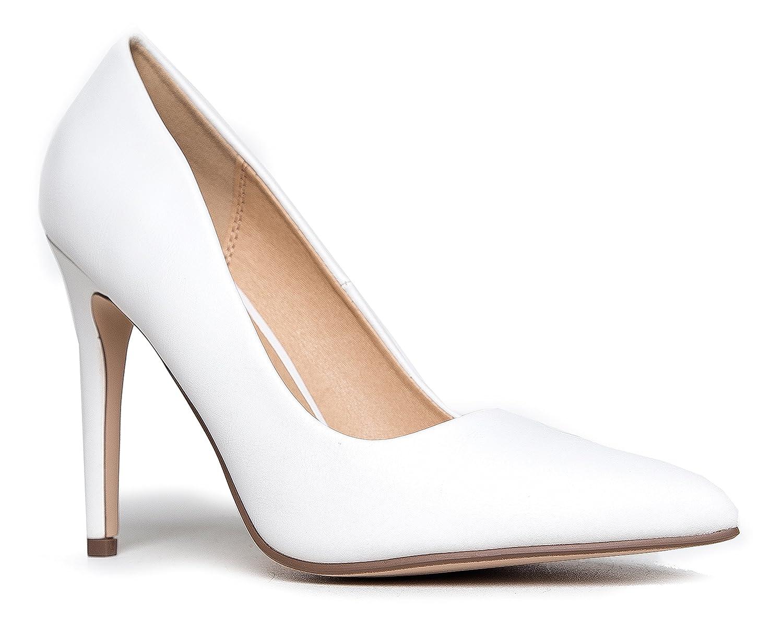 J. Adams Classic Pointed Toe Pumps – Slip On Comfortable Work High Heel – Closed Toe Kitten Heel – Kiera by