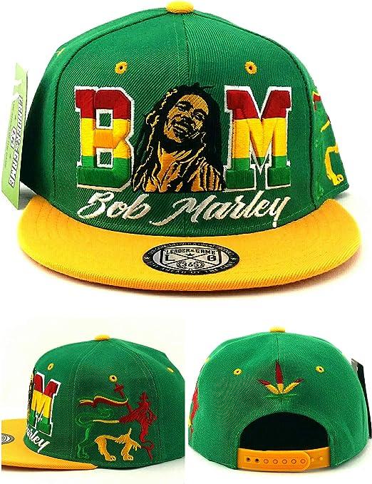 Bob Marley New Leader Rasta - Gorra, diseño de león, Color Verde y ...