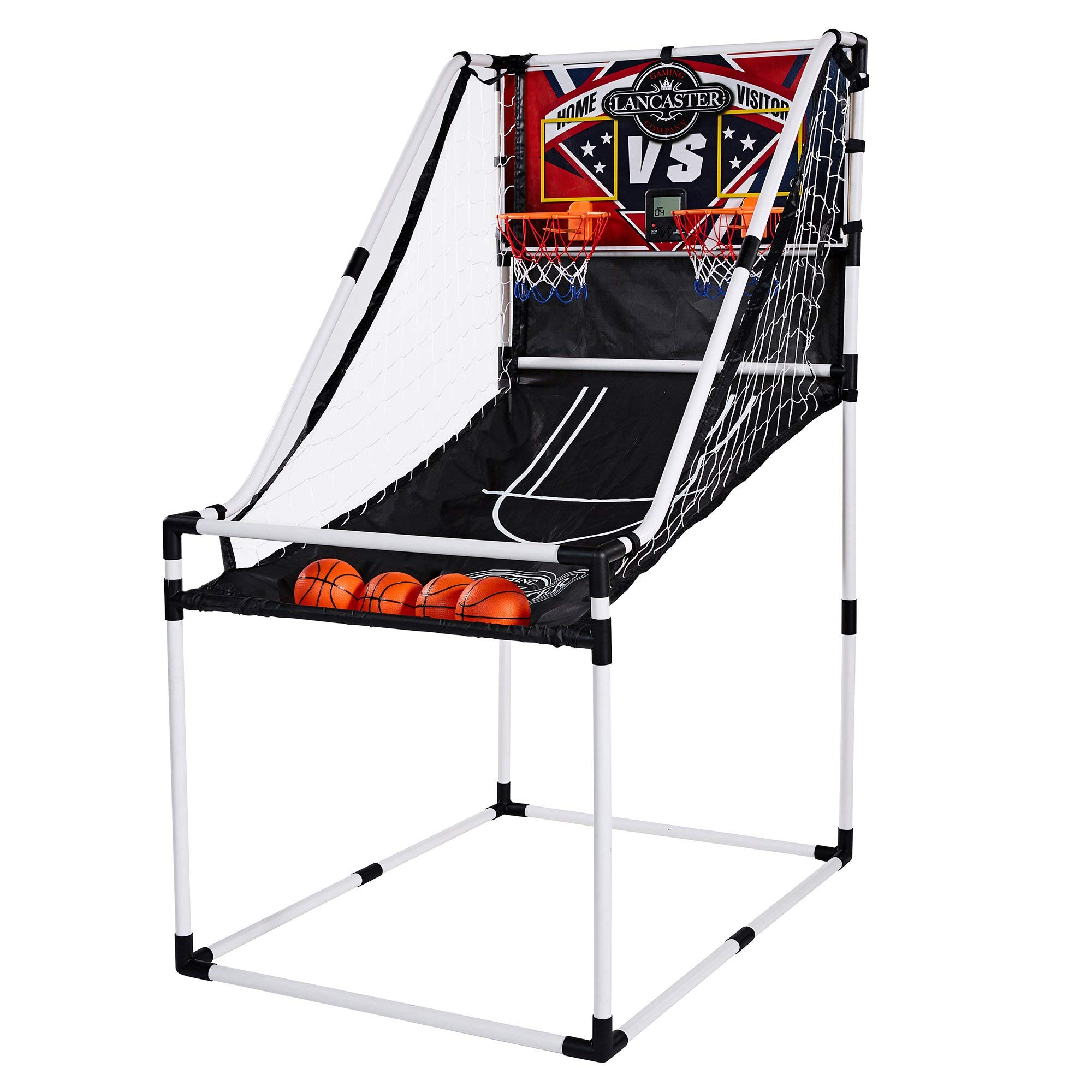 Lancaster 2 Player Junior Home Electronic Scoreboard Arcade Basketball Hoop Game by Lancaster Gaming Company