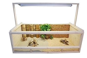 Tropic-Shop Terrarium pour Tortues terrestres 120 x 60 x 40 cm + + + ... 1106b52e5c37