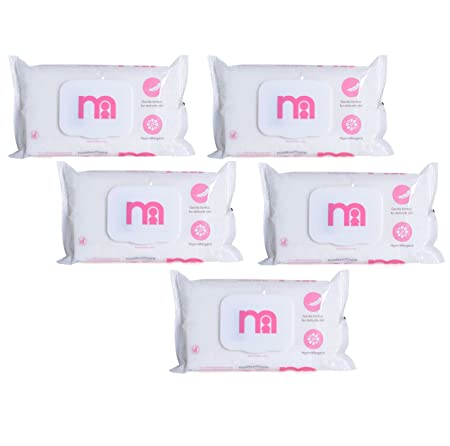 Mothercare Non Fragrances Wipes ( 60pcs x 5pkt) (Pink)
