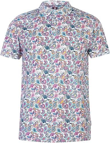 Soviet Hombre Paisley Print Camiseta Polo Blanco XL: Amazon.es: Ropa y accesorios