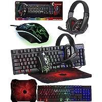 Orzly Teclado y Raton Gaming - Combo Ratón y Teclado USB [RGB LED Retroiluminación], Cascos Gamer, Alfombrilla de Ratón…