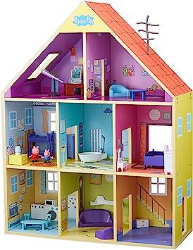 Amazon.es: Peppa Pig- Casa Gigante De Madera, Multicolor (Bandai ...