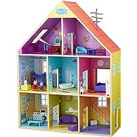 Peppa Pig- Casa Gigante De Madera, Multicolor (Bandai