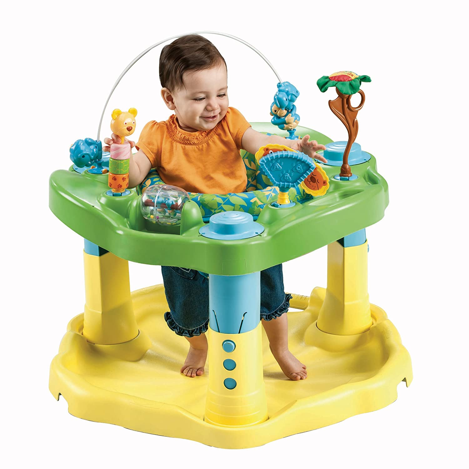 evenflo exersaucer bounce and learn activity centre zoo friends  - evenflo exersaucer bounce and learn activity centre zoo friendsamazoncouk baby