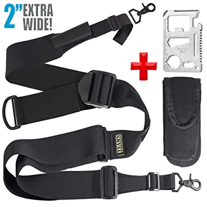 0597dde9e66 Rifle Sling AR 15 Accessories - For US 2nd AMENDMENT Supporters- 2 Point  Rifle Sling with Swivels.Tactical Hunting ar Gan Strap- Width 2