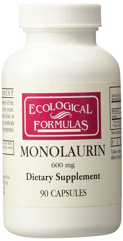 Amazon com: Ecological Formulas Monolaurin 600mg 90 Capsules: Health