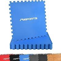 Msports Bodenschutzmatten Set Premium - 8 Schutzmatten in verschiedenen Farben 3,175m² | Bodenschutz 60x60 cm | Stärke: 1,0 cm | Puzzlematten Gymnastikmatte