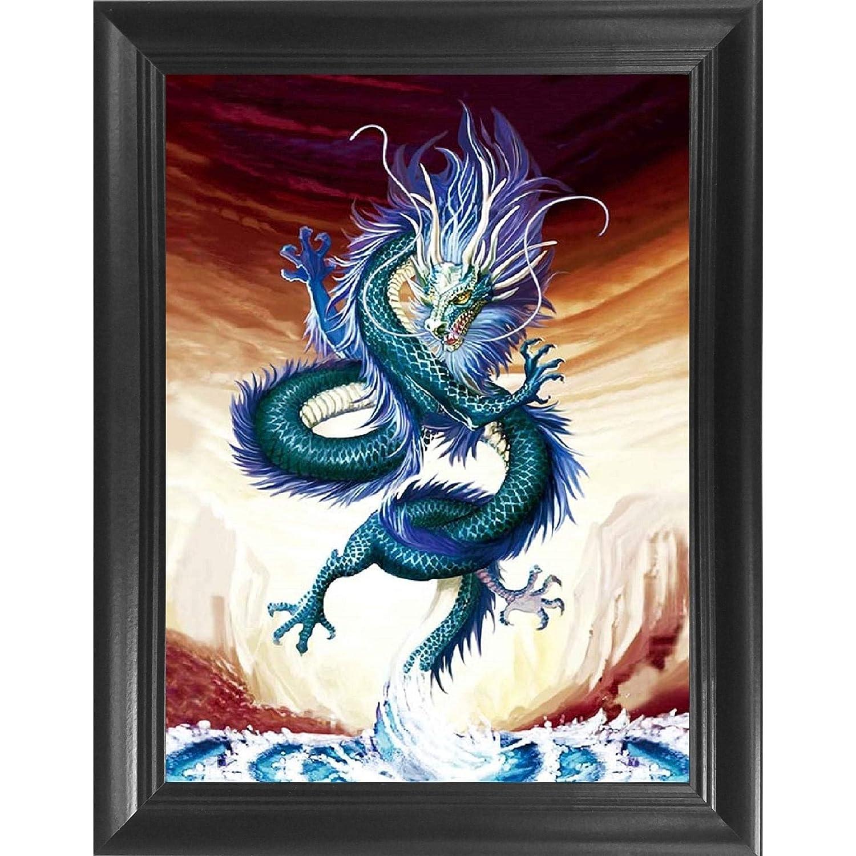 44a7b263a2b6a Amazon.com  Asian Dragon 3D Poster Wall Art Decor Framed Print ...