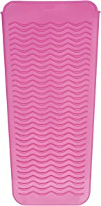 OXO Good Grips Heat Resistant Silicone Travel Pouch for Curling Irons and Flat Irons, Pink