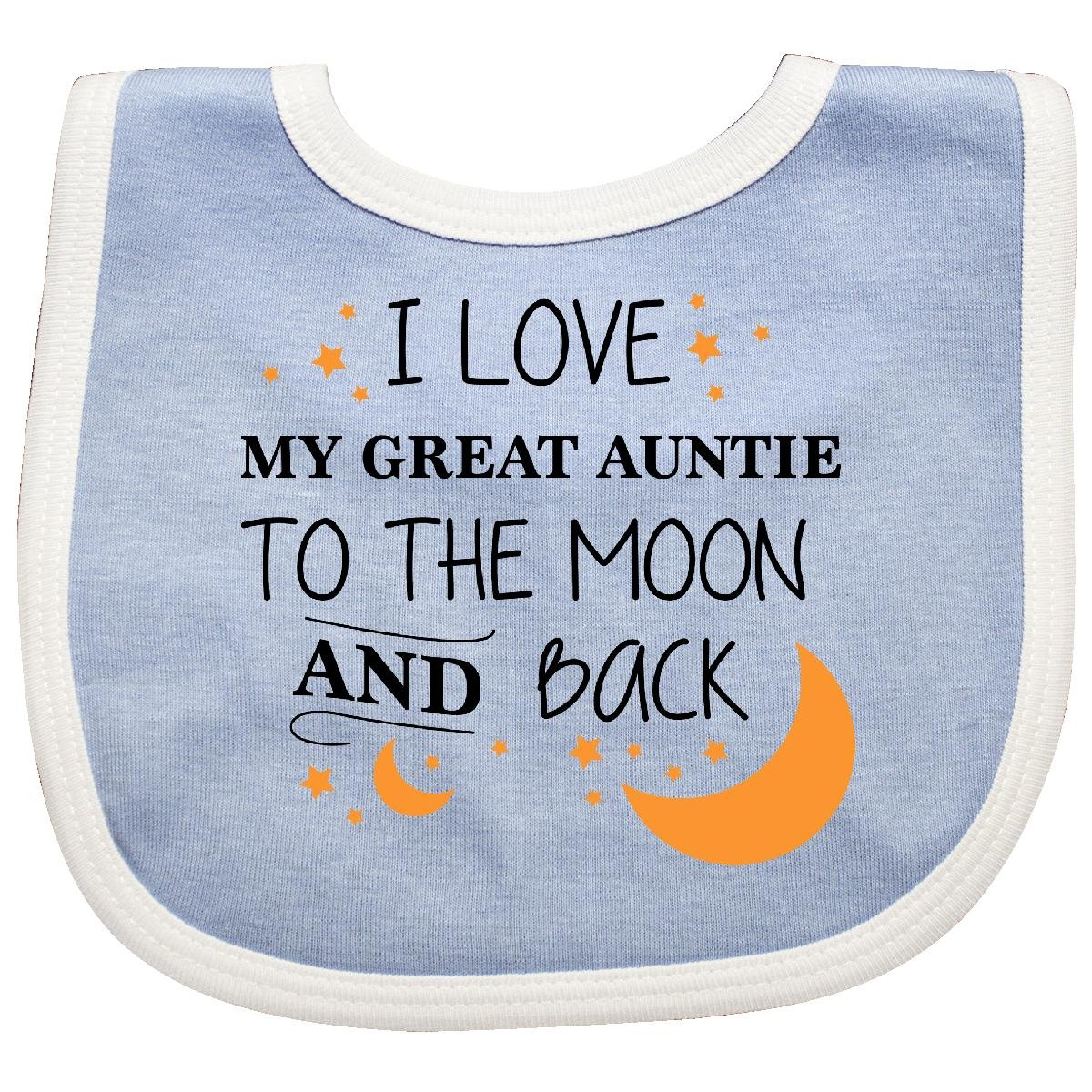 1c8bd83c2 Amazon.com: Inktastic - I Love My Great Auntie To The Moon and Baby Bib  Blue/White 2965b: Clothing
