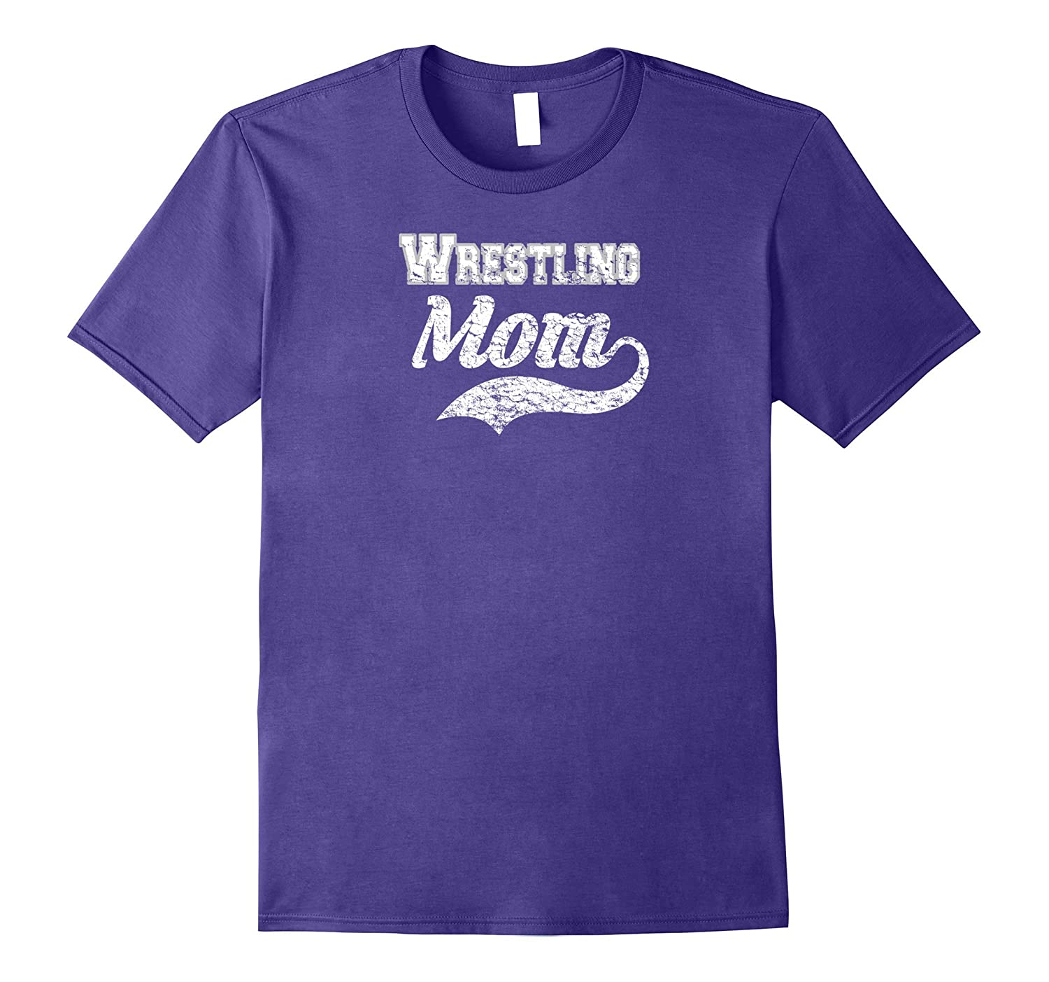 Wrestling Mom Distressed Tee Shirt - Mother Of The Wrestler-Art