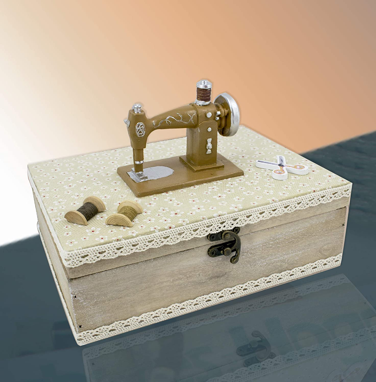 Fildor Máquina coser Caja, Organizador, Costurero, fabric, Natural ...