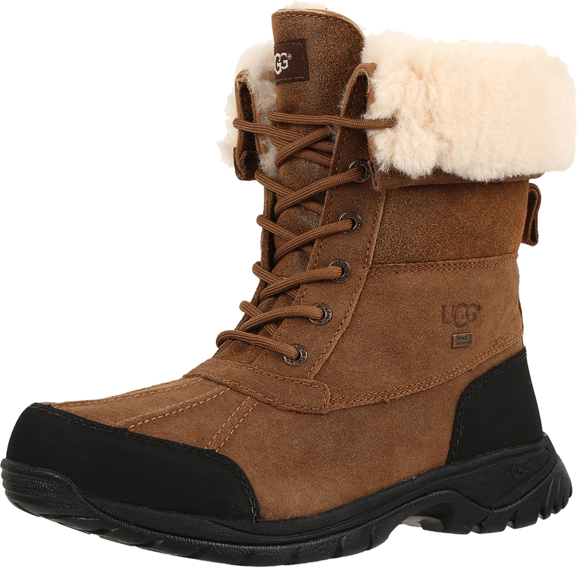 UGG Men's Butte Bomber Snow Boot, Bomber Jacket Chestnut, 12 M US