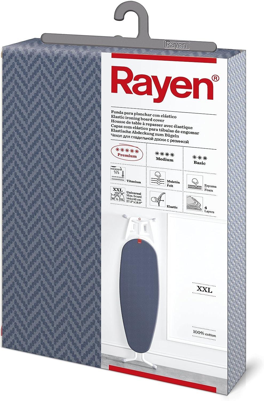 Rayen - Funda para tabla de planchar XXL 150 x 55 cm, Azul Oscuro