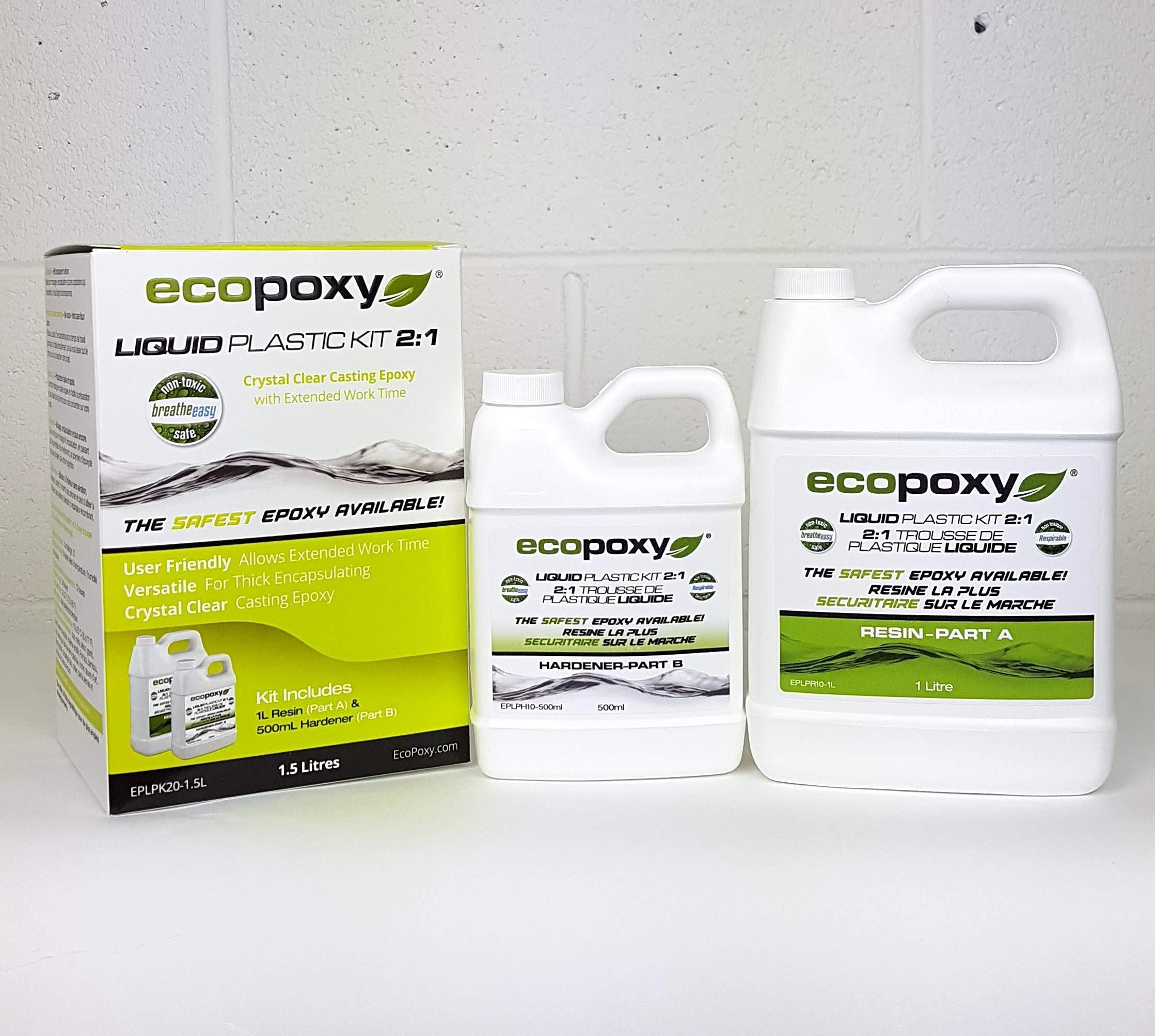 Ecopoxy Liquid Plastic 1.5L - 2:1 Ratio Sold by OM Creation Inc