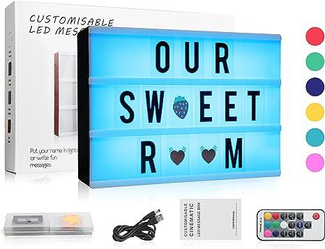 Amazon.com: Caja de luz cinemática de 7 colores cambiantes ...