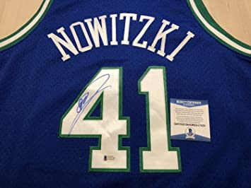 2d6a97379df Image Unavailable. Image not available for. Color  Dirk Nowitzki Dallas  Mavericks Autographed Signed Mitchell Ness Jersey BeckettAuthentic  Memorabilia