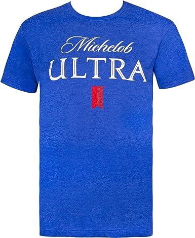 Michelob Logotipo de la cerveza camiseta azul grande: Amazon.es: Ropa y accesorios
