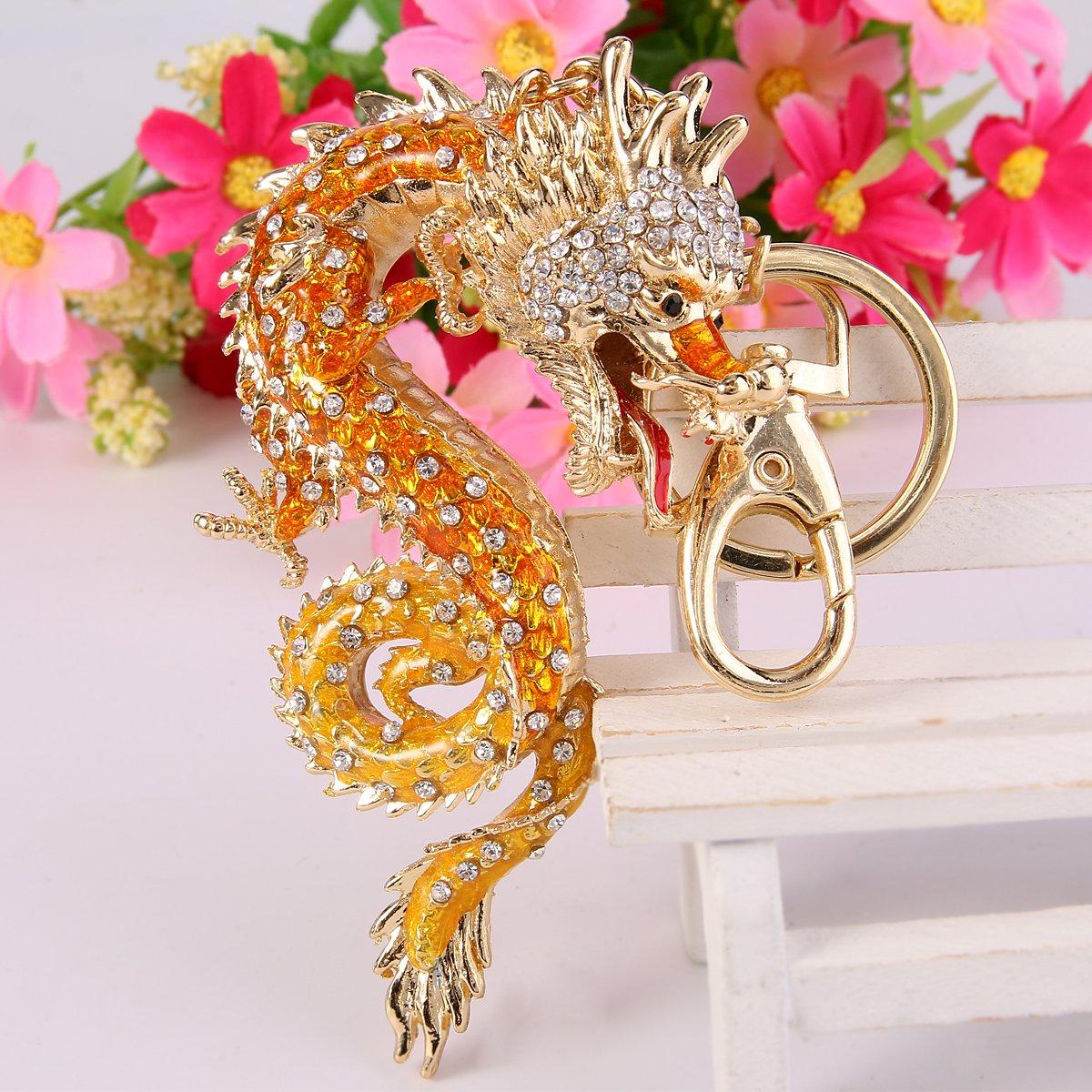 Goldton orange Emaille Fuchs Anhänger Halskette
