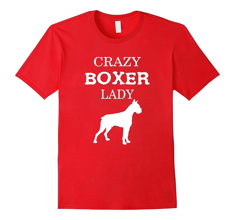 Boxer T-shirt - Crazy Boxer Lady-Art