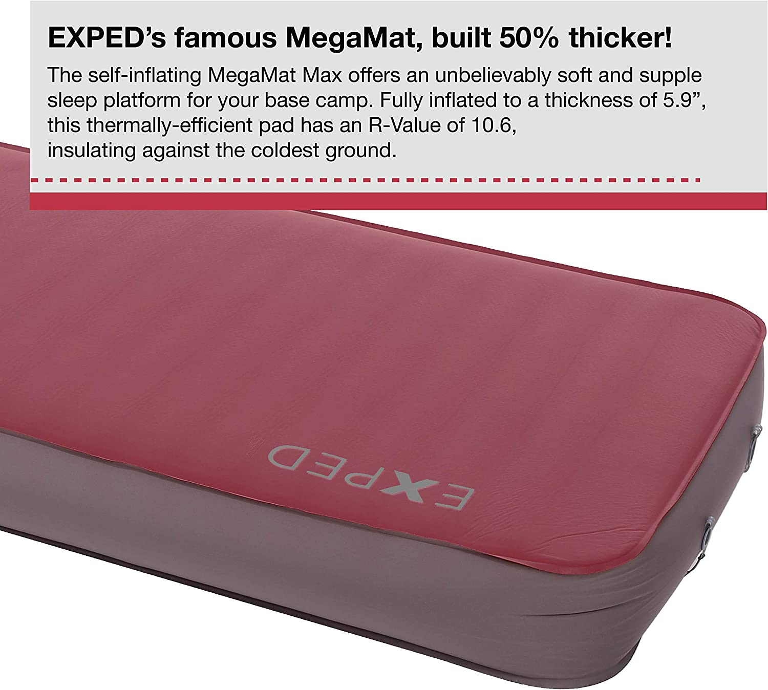 Exped MegaMat Duo 10 Insulated Self-Inflating Sleeping Pad