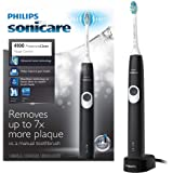 Philips Sonicare ProtectiveClean 4100 Plaque Control, Rechargeable electric toothbrush with pressure sensor, Black White HX6810/50
