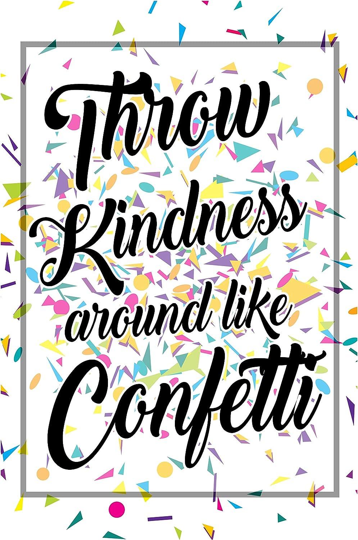 Classroom Posters Throw Kindness Around Like Confetti Growth Mindset Poster School Decorations Kids Motivational Inspirational Teacher Supplies Kindergarten Teachers Educational Toddlers Mindsets P015