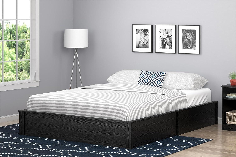 Black Oak Full Ameriwood Home 5951325COM Slim and Modern Platform Bed