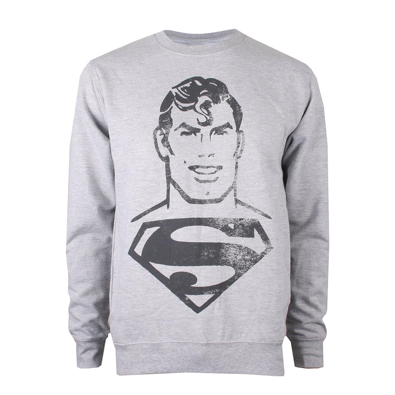 DC Comics Superman Acid Wash, Jersey para Hombre RGMCS364