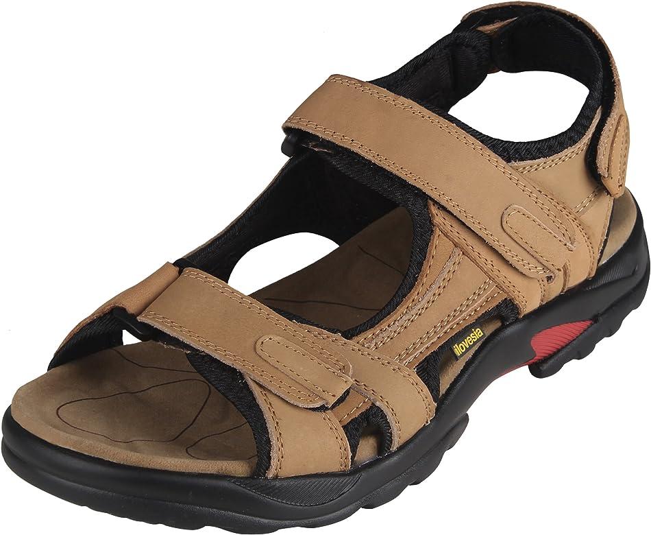 iloveSIA Mens Leather Sandals Athletic