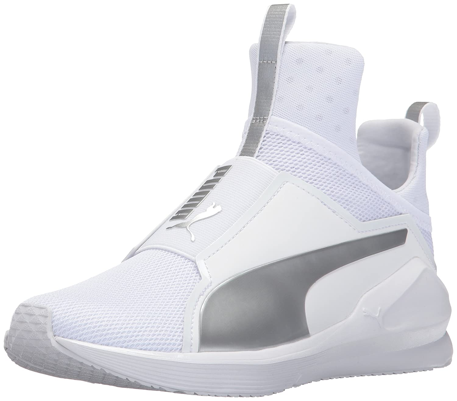 PUMA Women's Fierce Core Cross-Trainer Shoe B01MZ0E0IG 6.5 B(M) US|Puma White-puma Silver