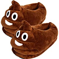 Cute Poop Emoji Slippers Plush Cotton Comfortable Indoor Shoe for Kids & Women with Non-Skid Footpads(B11804)~ We Pay Yours Sales Tax