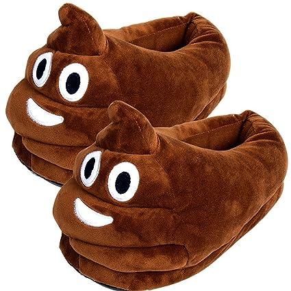 amazon com cute poop emoji slippers plush cotton comfortable indoor rh amazon com