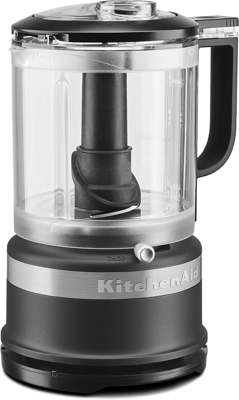 KitchenAid KFC0516BM 5 Cup Whisking Accessory Food Chopper, Black Matte (Renewed)