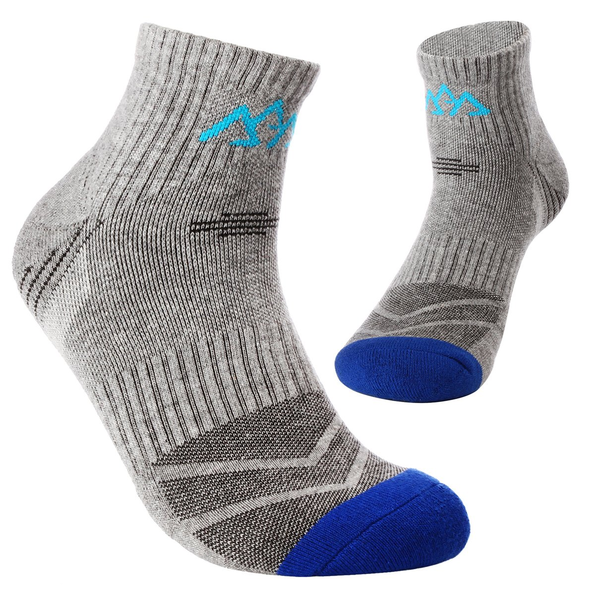 Will Well 5 Pack Mens Hiking Socks, Micro Crew Half Thickness Cushion Running Sports Performance Summer by Will Well (Image #2)