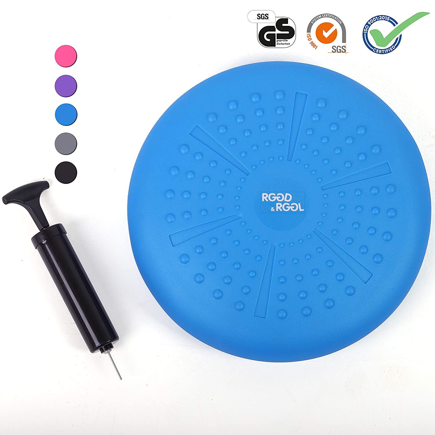 Extra Thick Balance Disc with Pump,Kids Wiggle Seat,Sensory Cushion for Classroom/&Office/&Home RGGD/&RGGL Wobble Cushion for Workout and Therapy,Support 442 lbs, 13/&14inch