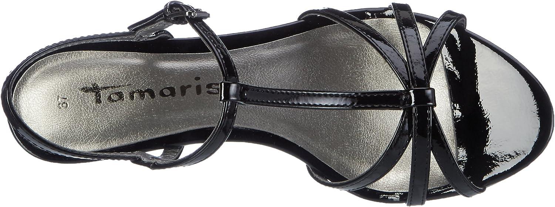 tamaris patent strappy sandals noires