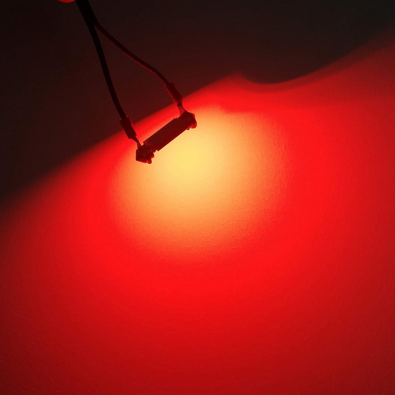 1.25 Alla Lighting CANBUS 31mm LED Festoon Light Bulbs Super Bright High Power 3030-SMD 12V DE3175 DE3021 DE3022 LED Bulbs for Interior Map Dome License Plate Lights Lamp Replacement Ice Blue