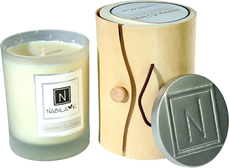 N Nabila K Home Ambiance Candle (Jasmine & Honey, 14oz)
