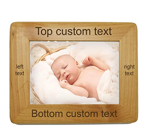 Newlywed Gift Custom Wood Picture Frame 5x7 4x6 Gift For Family Personalized Frame Wedding Frame Custom Engraved Wood Picture Frame