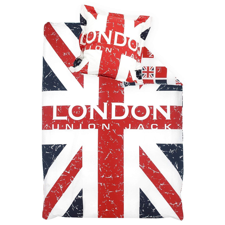 Bettwäsche 140 x 200 cm – London Union Jack