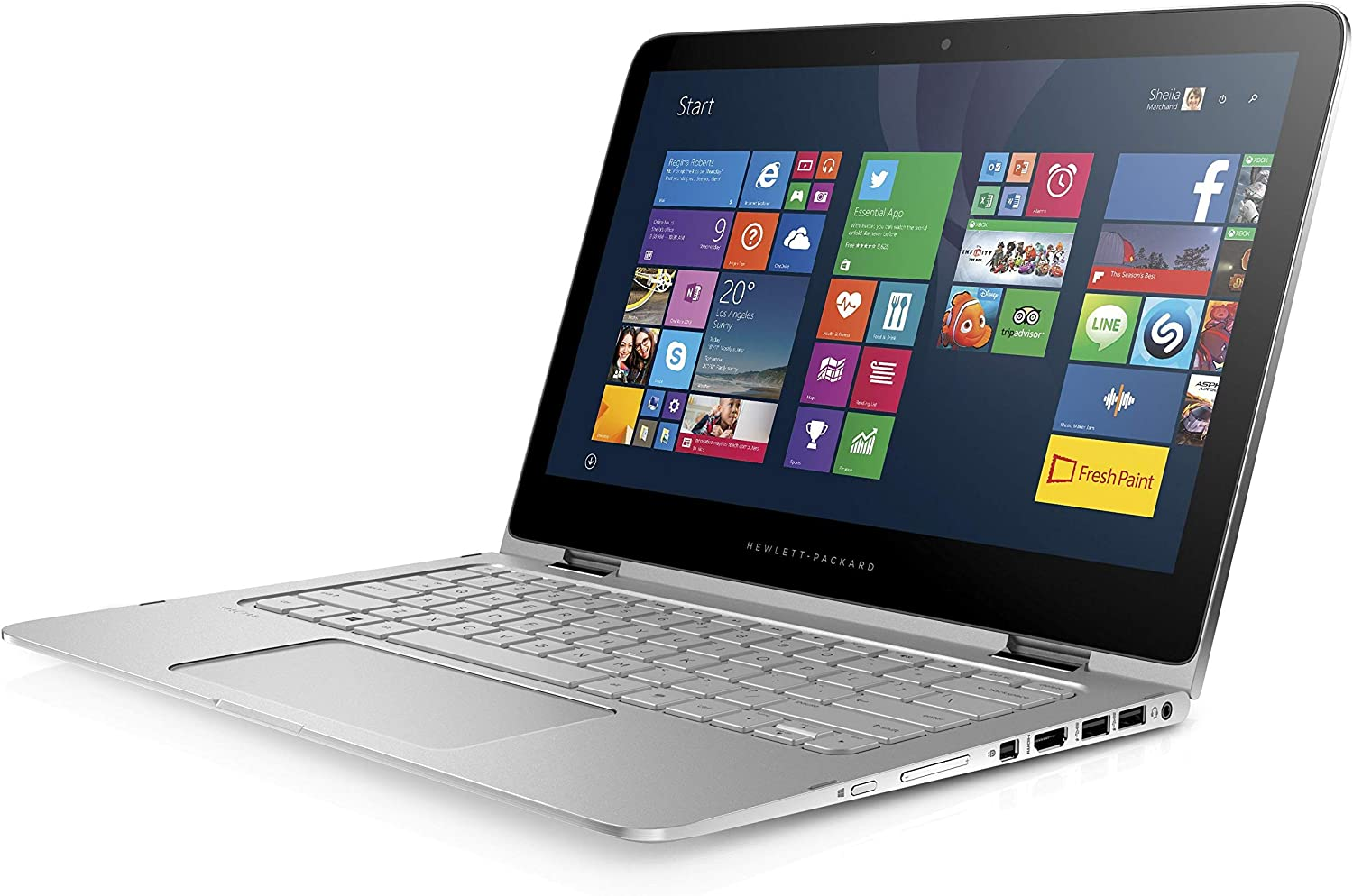 HP Spectre Pro x360 G2 Convertible Touchscreen 13.3in QHD (2560X1440), i7-6600U, 8GB LPDDR3-1600, 512GB SSD, Bluetooth, WiFi, Webcam, Backlit Keyboard, Win 10 Pro (Renewed)