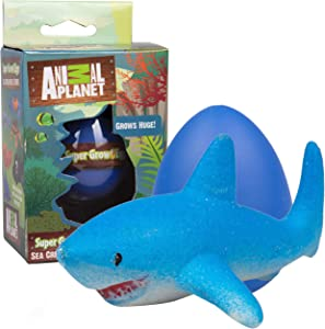 Animal Planet Super Grow Ocean Sea Creature Egg 1 Pack - Surprise Marine Animal Toys Hatch and Grow to 3X Size in Water - Discover 1 of 6