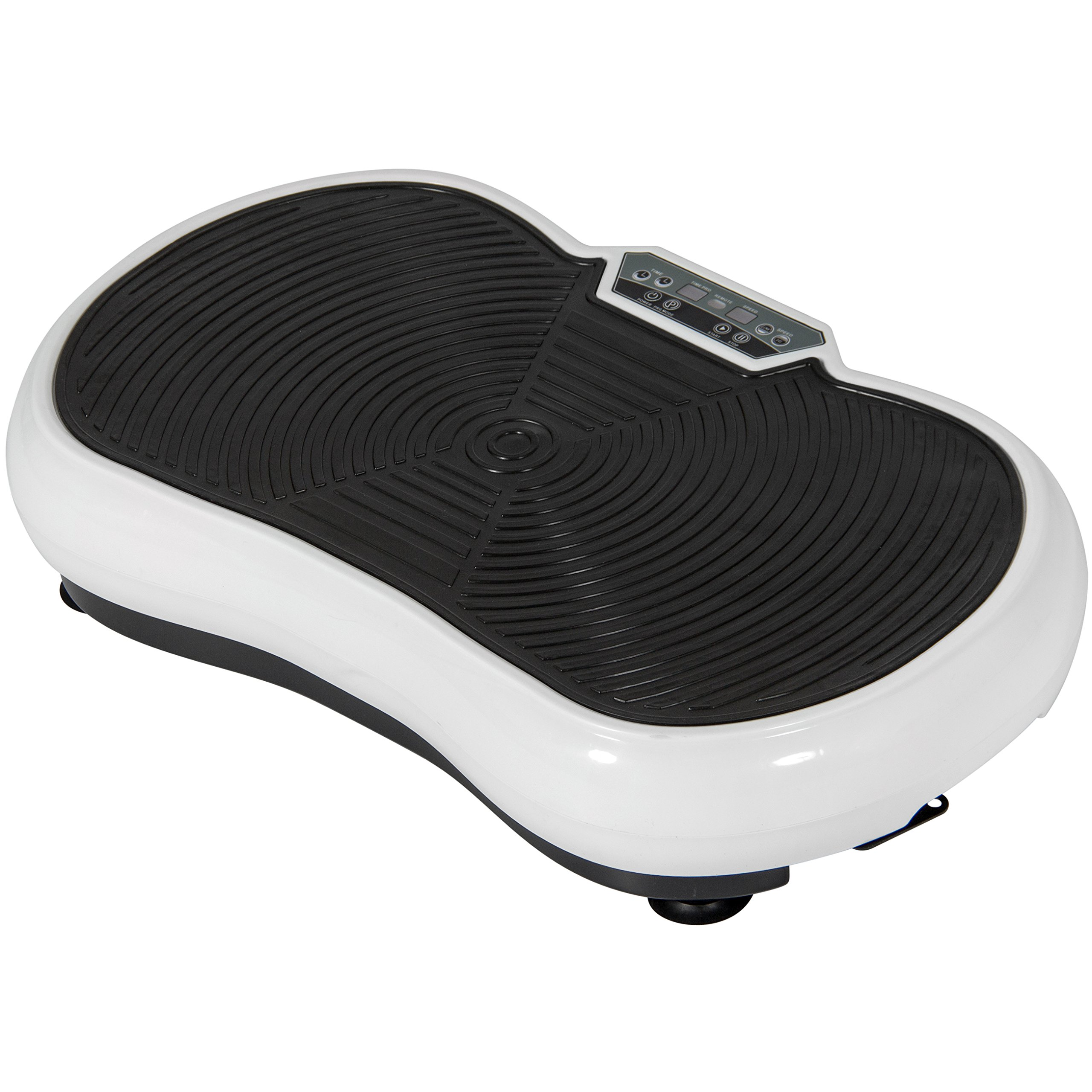 Best Choice Products Full Body Vibration Platform w/Remote Control and Resistance Bands for Blood Circulation, Muscle Strengthening - White by Best Choice Products (Image #3)